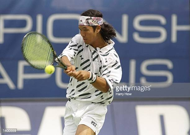 Tommy Ho of the United States performs during the RCA Championships at the Indianapolis Tennis Center in Indianapolis Indiana Mandatory Credit Harry...