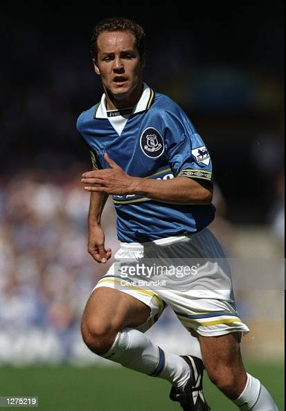 Alex Clelland of Everton in action against Aston Villa in ...