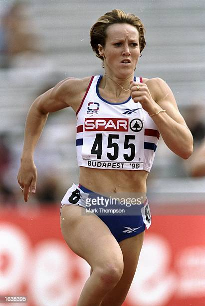 Allison Curbishley of Great Britain competing in the heats of the womens 400m event at the European Championships in the Nepstadion Budapest Hungary...