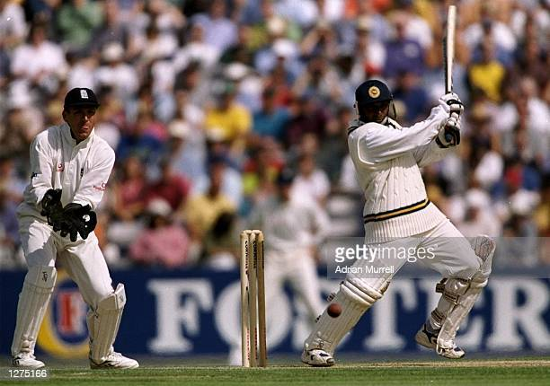 Aravinda de Silva of Sri Lanka in action during the test match against England at the Oval in London England Sri Lanka won the game by 10 wickets...