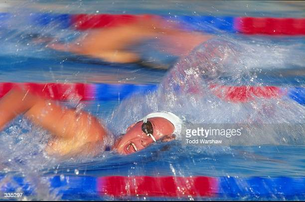 Brooke Bennett in action during the Phillips 66 National Championships at the Clovis Swim Complex in Clovis, California.