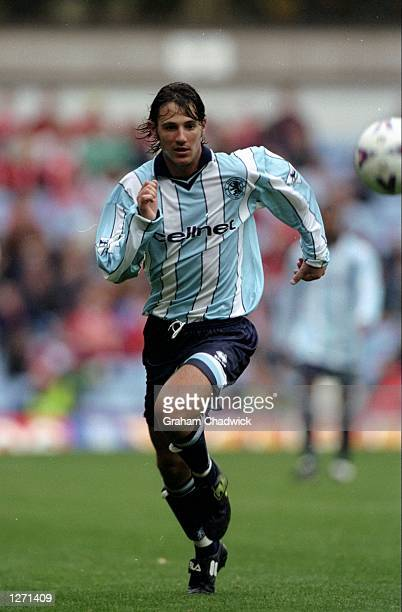 Craig Harrison of Middlesbrough in action during the FA Carling Premiership match against Aston Villa at Villa Park in London England Aston Villa won...