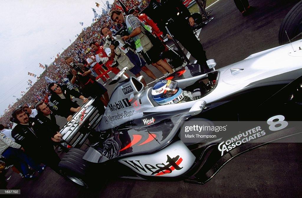 Mclaren Mercedes Driver Mika Hakkinen Prepares For The Hungarian