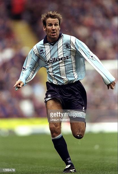 Paul Merson of Middlesbrough makes a run during the FA Carling Premiership match against Aston Villa at Villa Park in Birmingham England Villa won 31...