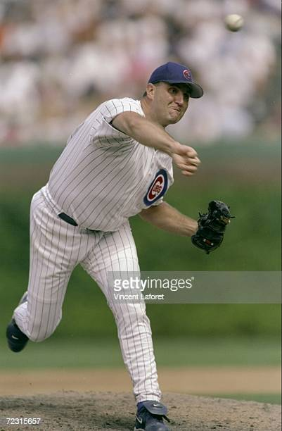 Pitcher Mark Clark of the Chicago Cubs throws a pitch during a game against the St Louis Cardinals at Wrigley Field in Chicago Illinois The Cardinals...