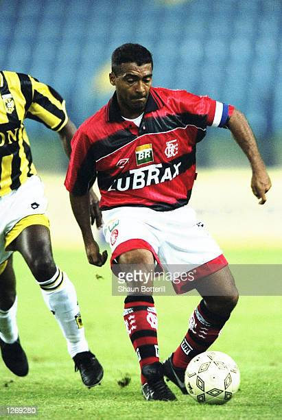 Romario of Flamengo on the ball during the preseason Gelderland Tournament game against Vitesse Arnhem in Arnhem Holland Mandatory Credit Shaun...