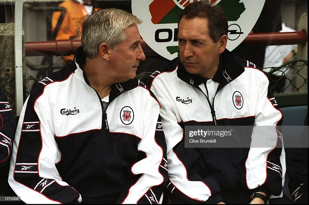 Gerard Houllier and Roy Evans : News Photo