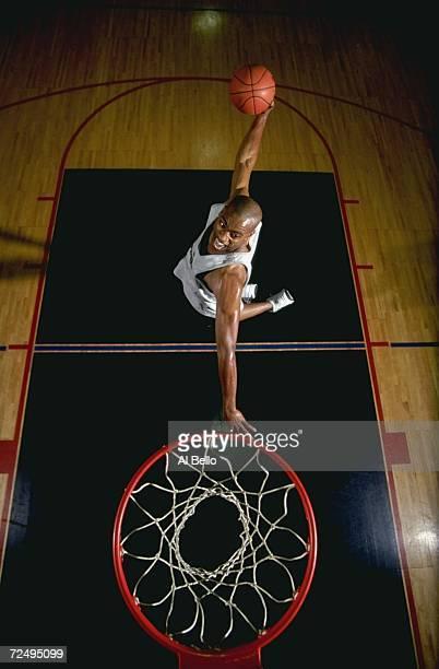 Vince Carter of the Toronto Raptors makes a slam dunk for Puma Mandatory Credit Al Bello /Allsport