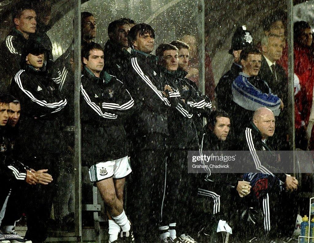 Ruud Gullit of Newcastle : News Photo