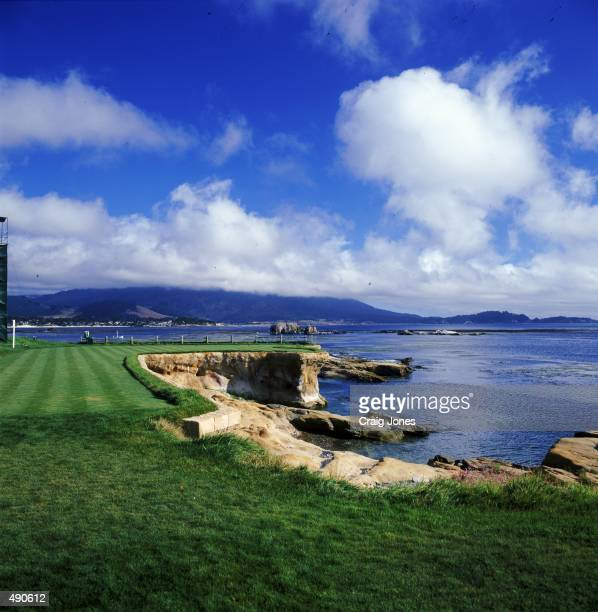 A general view of the Tee at the Pebble Beach Golf Links in Pebble Beach California