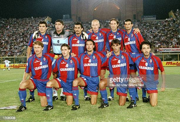 Bologna line up for the Italian Serie A match against Torino at the Stadio Renato Dall''Ara in Bologna, Italy. The game ended goalless. \ Mandatory...