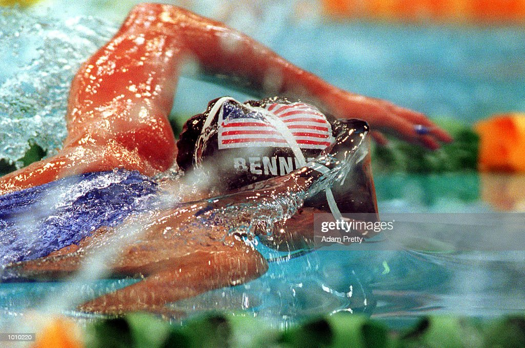 Brooke Bennett of the USA in action during the womens 800 metres freestyle during day seven of the Pan Pacific Swimming Championships at the Aquatic Centre, Homebush, Sydney, Australia. Mandatory Credit: Adam Pretty/ALLSPORT