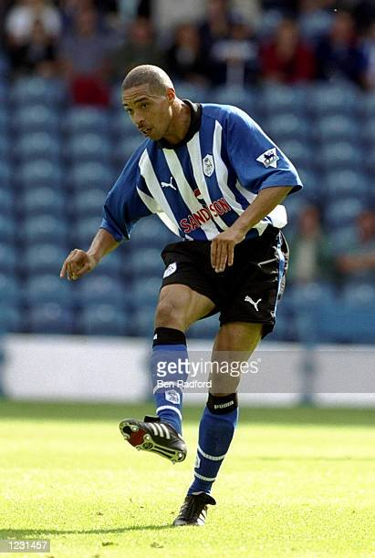 Des Walker of Sheffield Wednesday in action during the FA Carling Premiership match against Tottenham Hotspur played at Hillsborough in Sheffield...