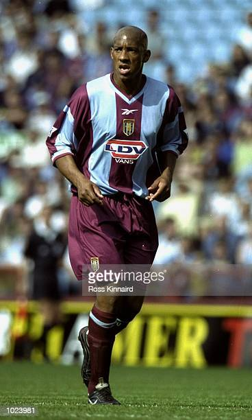 Dion Dublin of Aston Villa during the FA Carling Premiership match against Middlesbrough at Villa Park in Birmingham England Mandatory Credit Ross...