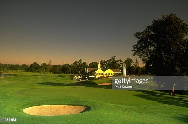 General view of 434 yard Par 4 ninth hole at The Kildare Hotel and Country Club Straffan County Kildare Ireland Mandatory Credit Paul Severn /Allsport