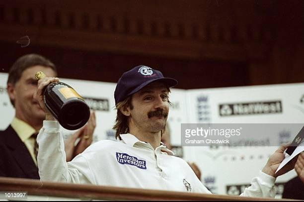 Jack Russell of Gloucestershire after his team wins the Natwest Trophy Final against Somerplayed at Lords in London England Mandatory Credit Graham...