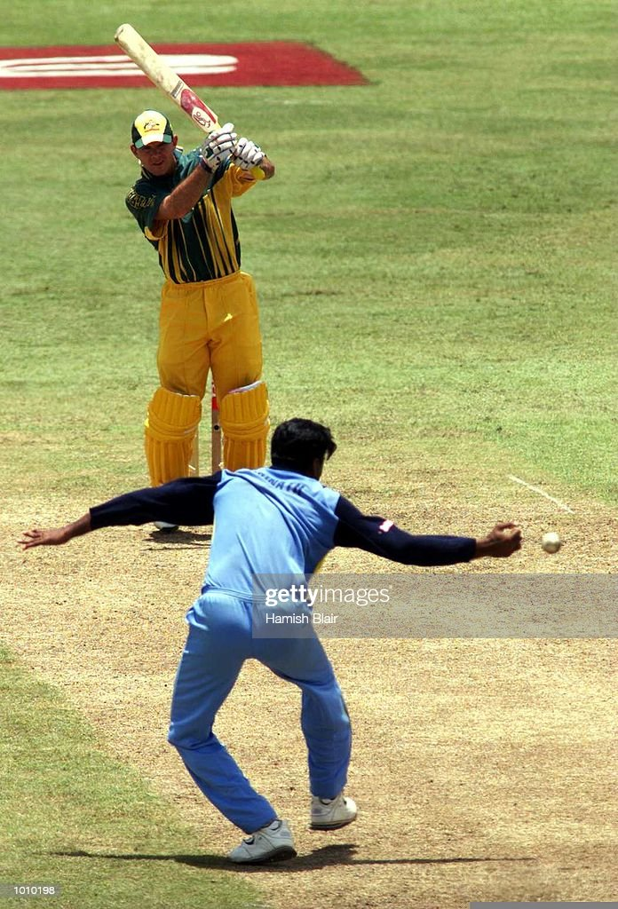 Javagal Srinath of India, misses a sharp catching chance off Ricky Ponting of Australia, during the match between India and Australia at Singhalese Stadium, Colombo, Sri Lanka. Mandatory Credit: Hamish Blair/ALLSPORT