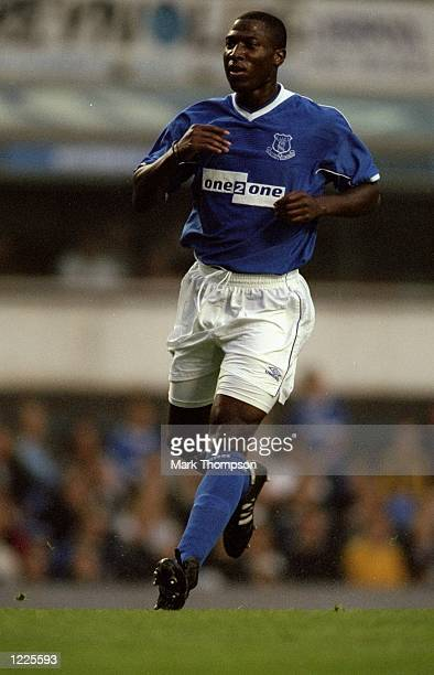 Kevin Campbell of Everton in action during the preseason friendly match against PSV Eindhoven played at Goodison Park in Liverpool England The match...