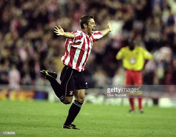 Kevin Phillips of Sunderland celebrates his goal during the FA Carling Premiership match against Watford played at the Stadium of Light in Sunderland...