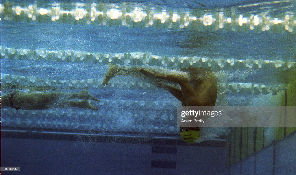 Kieren Perkins of Australia tumble turns but fails to reach the final of the mens 1500 metres freestyle during day seven of the Pan Pacific Swimming Championships at the Aquatic Centre, Homebush, Sydney, Australia. Mandatory Credit: Adam Pretty/ALLSPORT