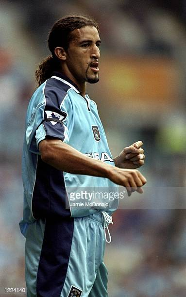 Mustapha Hadji of Coventry City in action during the FA Carling Premiership match against Southampton played at Highfield Road in Coventry England...