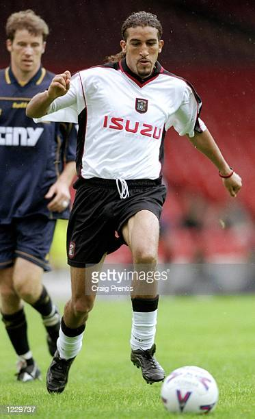 Mustapha Hadji of Coventry City in action during the FA Carling Premiership match against Wimbledon played at Selhurst Park in London England The...