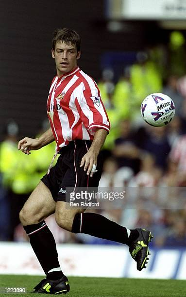 Paul Butler of Sunderland in action during the FA Carling Premiership match against Chelsea played at Stamford Bridge in London England The match...