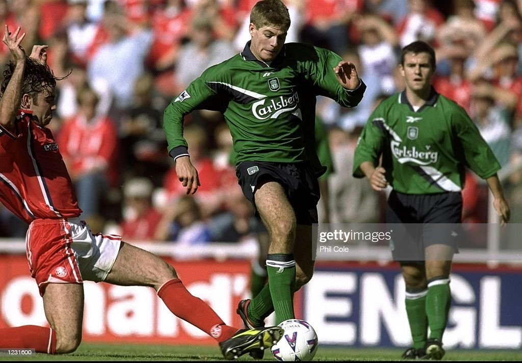 Steve Gerrard of Liverpool : News Photo