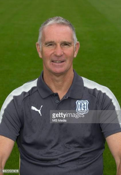 Aug 1st 2017 Dens Park Dundee Scotland Dundee team shoot Dundee goalkeeping coach Bobby Geddes