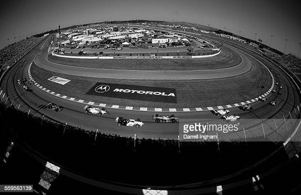 A fish eye view of the oval and race start of the Motorola 300 round 17 of the 2000 CART FedEx Championship series at the Gateway International...
