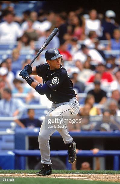 Alex Rodriguez of the Seattle Mariners in action at batduring the game against the New York Yankees at Yankee Stadium in the Bronx New York The...