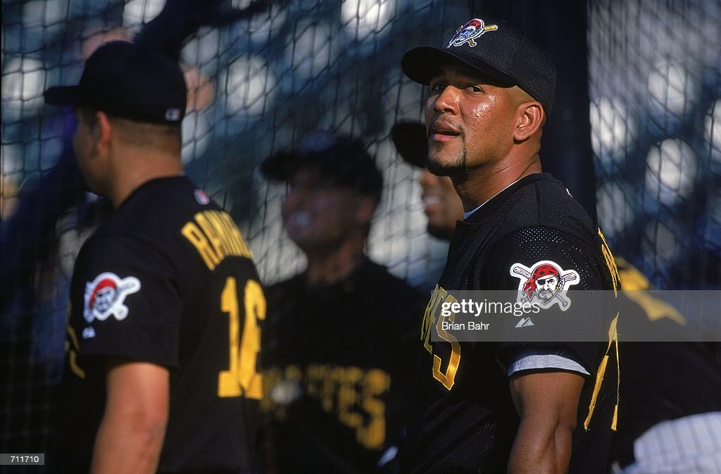 Alexander Ramirez #61 of the Pittsburgh Pirates looks on during the game against the Colorado Rockies at Coors Field in Denver, Colorado. The Rockies defeated the Pirates 6-1.Mandatory Credit: Brian Bahr /Allsport