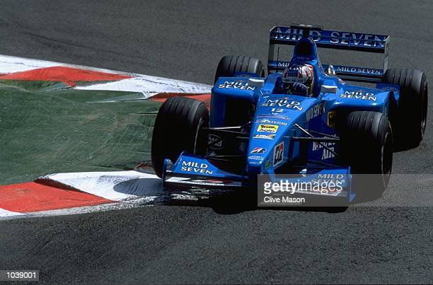 Alexander Wurz of Austria in action for Benetton B200 Playlife during the Formula One Belgian Grand Prix at Circuit de Spa-Francorchamps in Spa,...