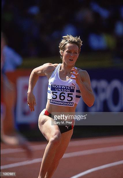 Allison Curbishley of Great Britain in action in the 400 metres during the Norwich Union Olympic Trials and AAA's Championships held at the Alexander...