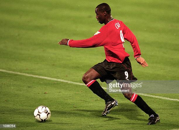 Andy Cole of Manchester United runs towards goal during the FA Carling Premiership match against Ipswich Town at Portman Road in Ipswich England The...