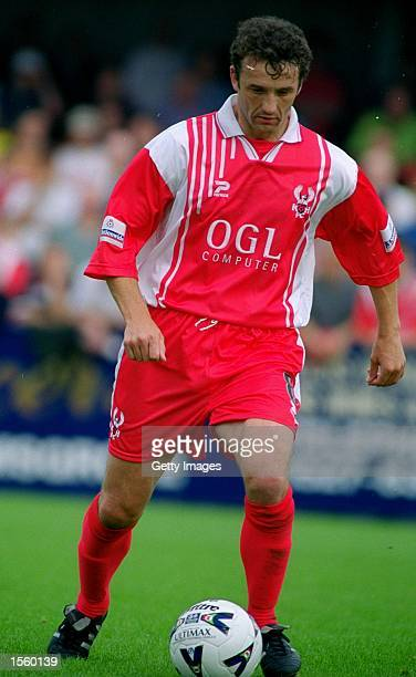 Barry Horne of Kidderminster Harriers in action during the Nationwide League Division Three match against Halifax Town at Aggborough Stadium in...