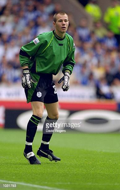 Chris Stringer in goal for Sheffield Wednesday during the Nationwide League Division One match against Wolverhampton Wanderers at Molineux in...