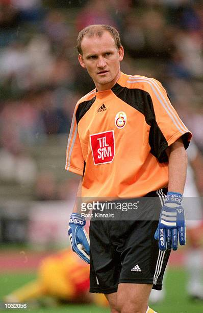 Claudio Taffarel of Galatasaray in action during the PreSeason Friendly Tournament match against Bayern Munich at the Olympic Stadium in Munich...