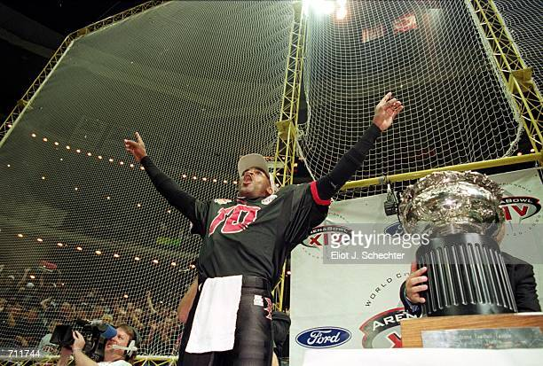 Connell Maynor of the Orlando Predators celebrates after the Arena Bowl Game against the Nashville Kats at the TD Waterhouse Centre in Orlando...