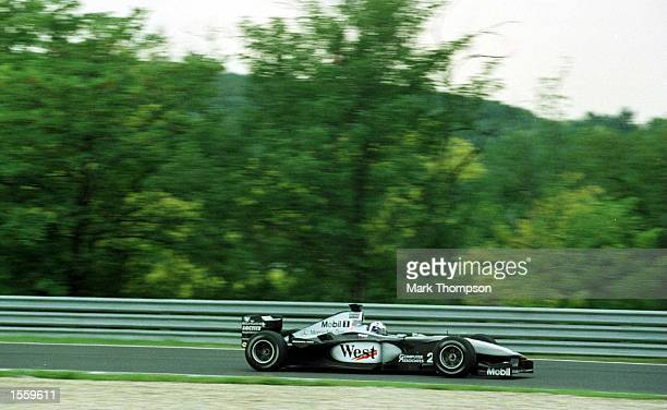 David Coulthard of Great Britain and McLaren during the second free practice session for the Hungarian Grand Prix at Budapest Hungary Mandatory...
