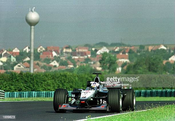 David Coulthard of Great Britain and McLaren during the third free practice session for the Hungarian Grand Prix at Budapest Hungary Mandatory Credit...