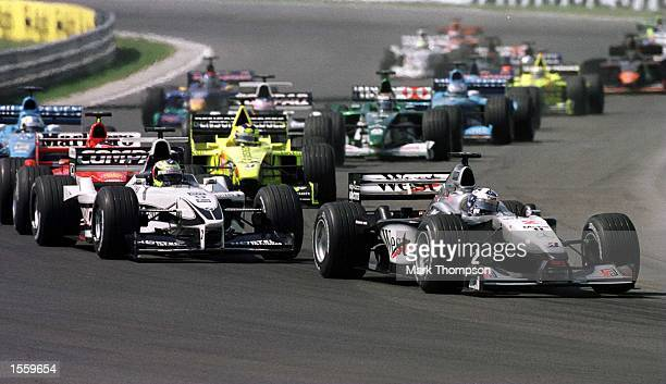 David Coulthard of Great Britain and McLaren during the Hungarian Grand Prix at Budapest Hungary Mandatory Credit Mark Thompson/ALLSPORT