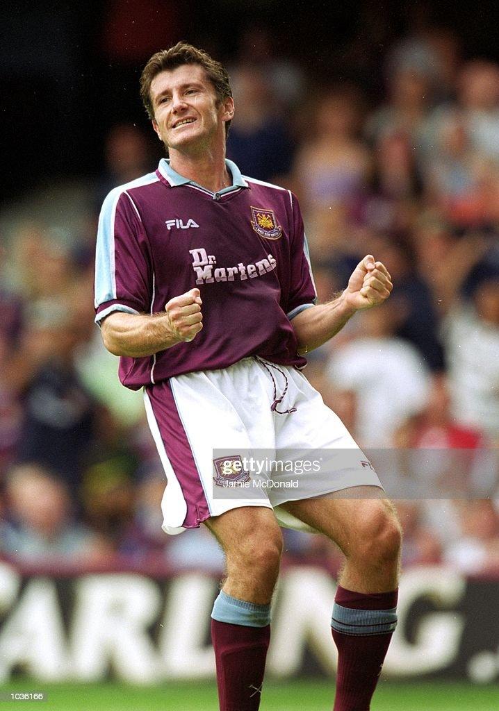 Davor Suker of West Ham United in action during the Julian Dicks Benefit match against Athletic Bilbao at Upton Park in London. \ Mandatory Credit: Jamie McDonald /Allsport