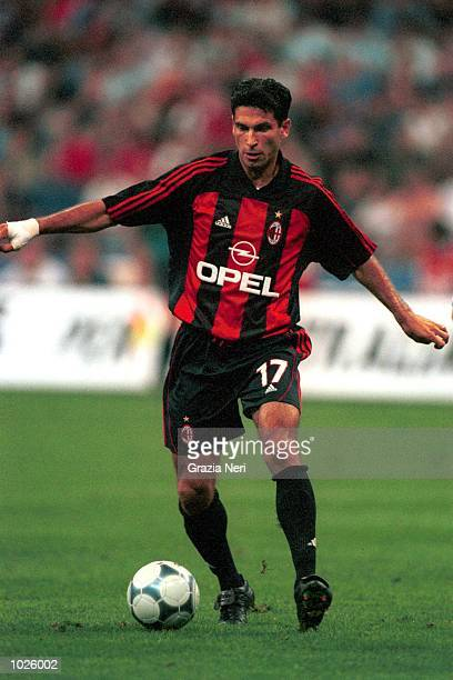 Drazen Brncic of AC Milan in action during the Coppa Del Centenario preseason match between AC Milan and Real Madrid at the San Siro Stadium Milan...