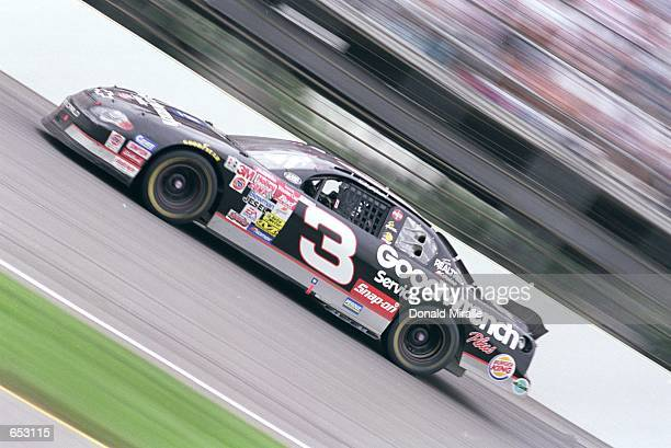 Driver Dale Earnhardt Sn drives during the Brickyard 400 part of the NASCAR Winston Cup Series at the Indianapolis Motor Speedway in Indianapolis...