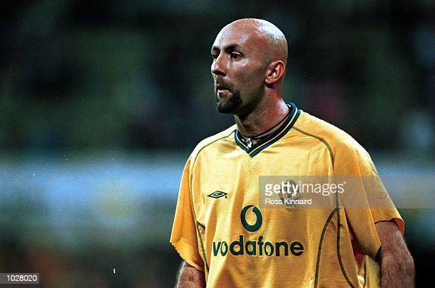 Fabien Barthez of Manchester United during the Opel Masters 2000 game between FC Bayern Munchen and Manchester United in Munich Mandatory Credit Ross...