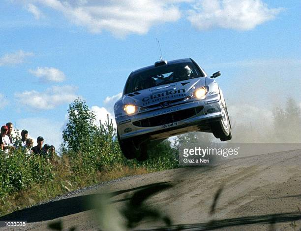 Francoise Delecour in the Peugoet 206 in action during the World Rally Championships in Finland Mandatory Credit Grazia Neri/ALLSPORT