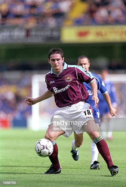 Frank Lampard Junior of West Ham United in action during the Carling Premiership match against Chelsea at Stamford Bridge in London England Chelsea...