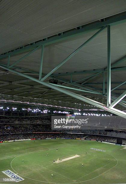 General scenes from the roof in the match between Australia and South Africa, in game one of the Super Challenge 2000, played at Colonial Stadium in...