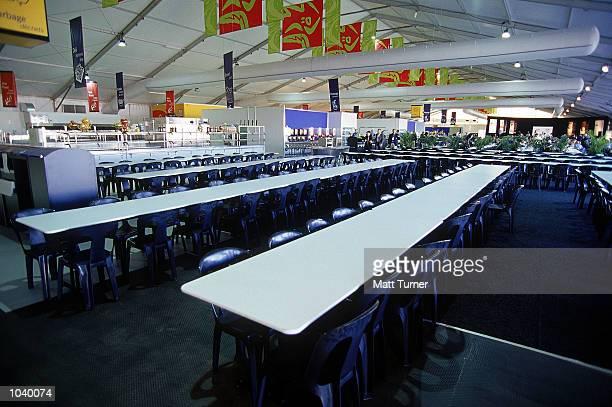 General view of the main dining hall of the new Athletes Village at Newington Homebush Bay Sydney Australia Mandatory Credit Matt Turner/ALLSPORT